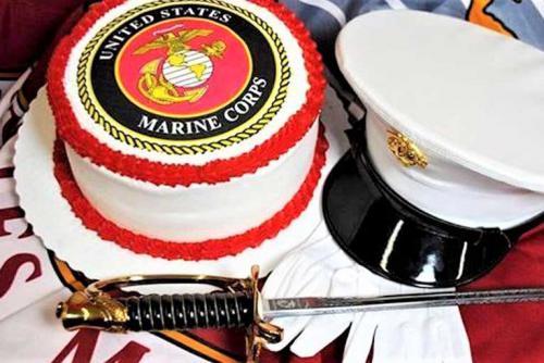 Marine Birthday Cake w sword