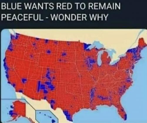 Blue wants us to comply