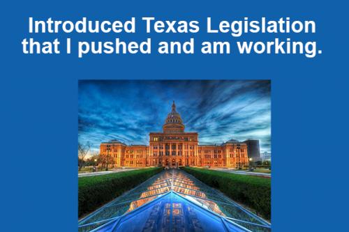 Introduced Texas Legislation