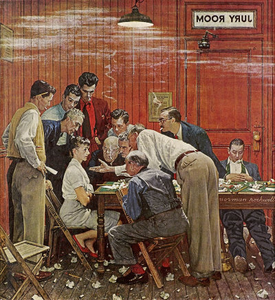 Norman Rockwell - The Jury Holdout