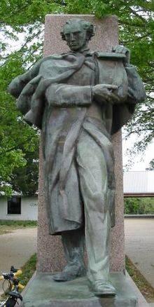 George Childress Statue at Washington on Brazos