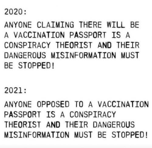 no longer conspiracy