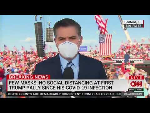 Crowd Chants : CNN Sucks at Trump Rally in Sanford, Florida behind Jim Acosta